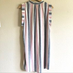 cloth & stone Dresses - Cloth & Stone Stripe Sleeveless Dress